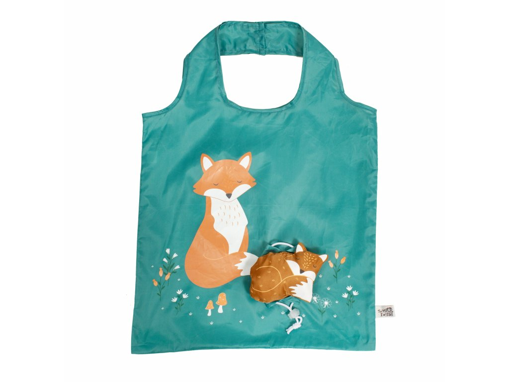 VAL060 A Woodland Fox Foldable Shopping Bag (1)