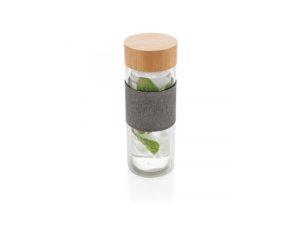 sklenena lahev s dvojitou stenou 360 ml xd design transparentni (8)