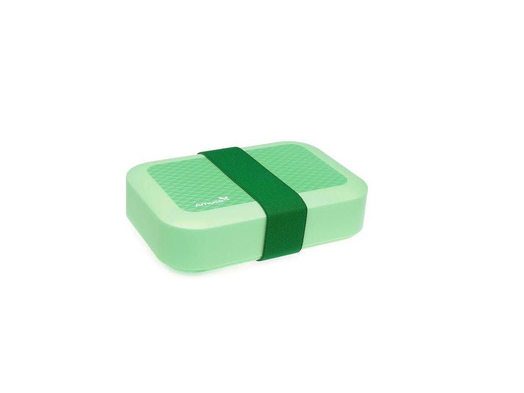Svačinový box Amuse® střední zelený