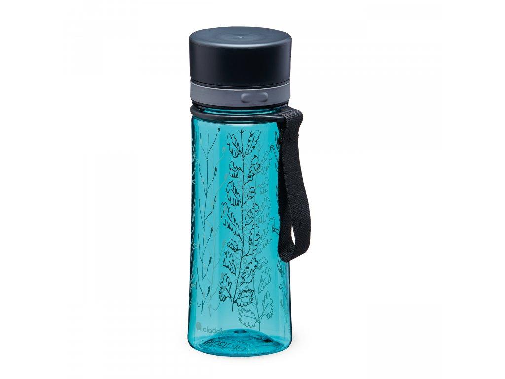 ALADDIN Aveo láhev na vodu 350 ml Aqua Blue Print