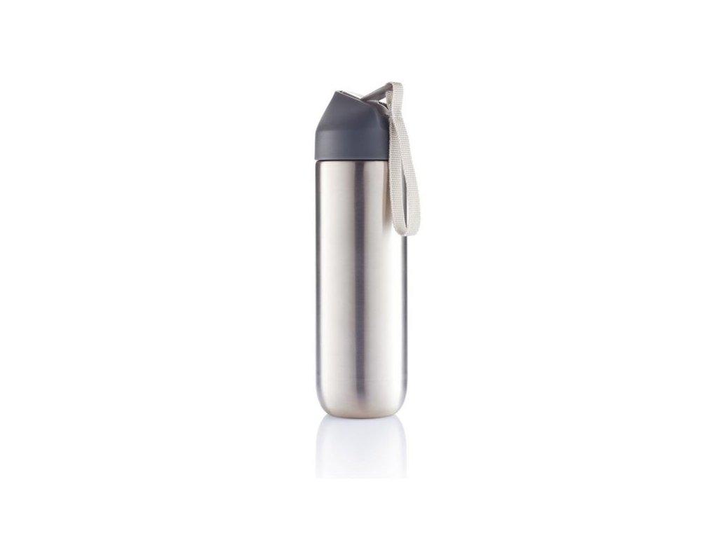 XD Design Neva, sportovní nerezová láhev, šedá