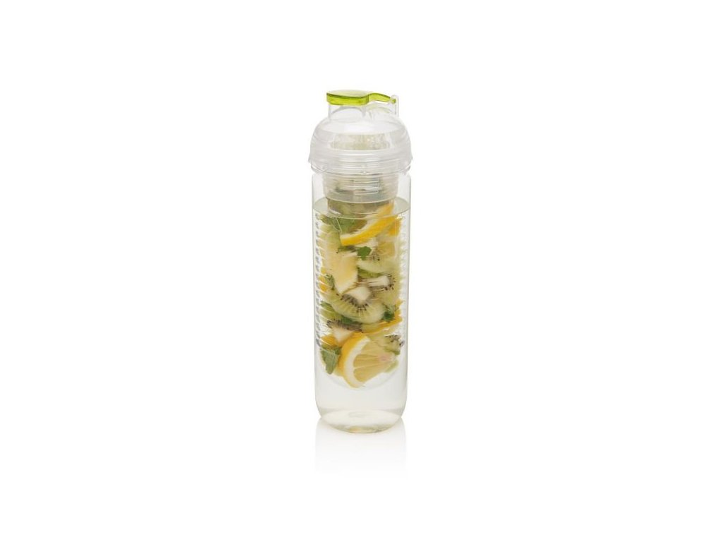láhev s košíkem na ovoce, zelená
