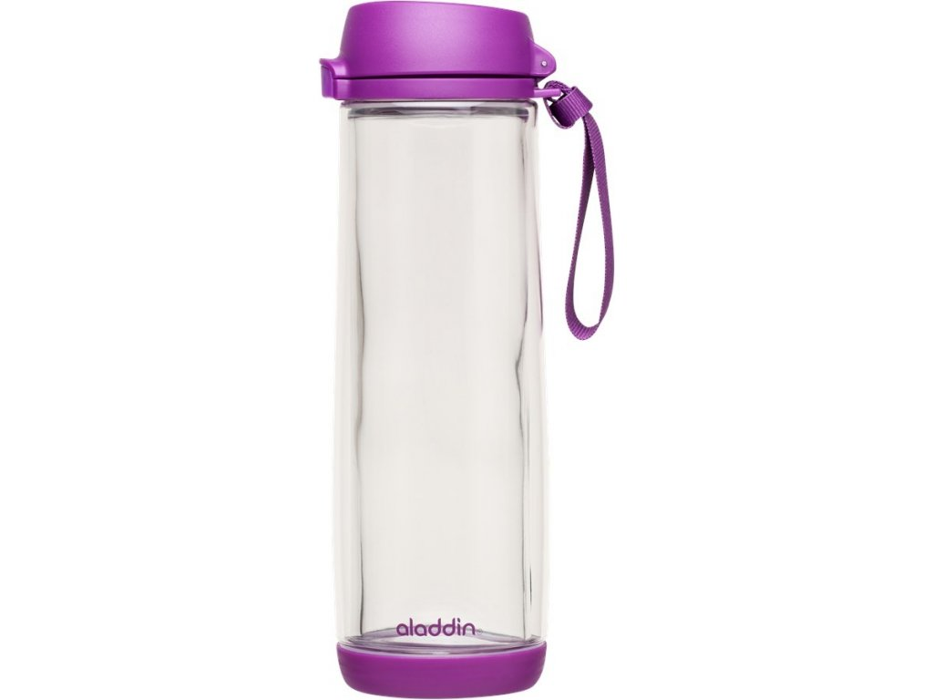 Láhev Aladdin sklo + plast 0,53 l fialová