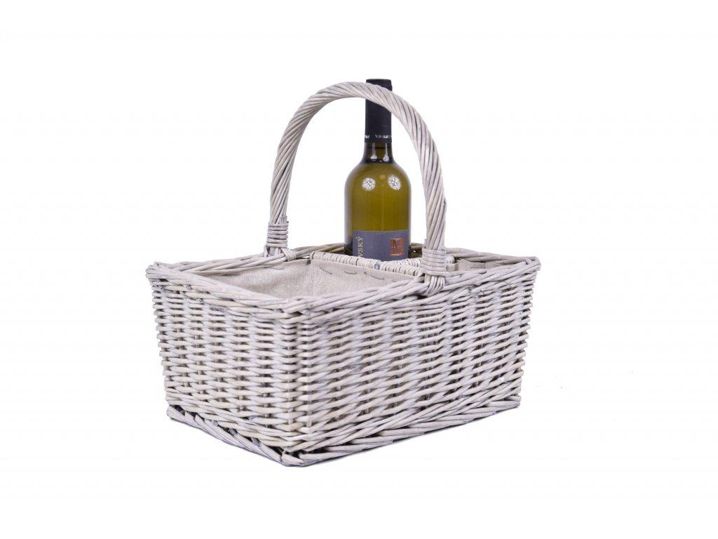 Košík s boxy na víno
