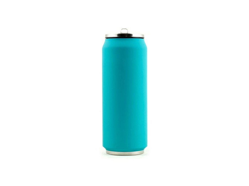 Tin Can termohrnek 500ml tyrkysový matný