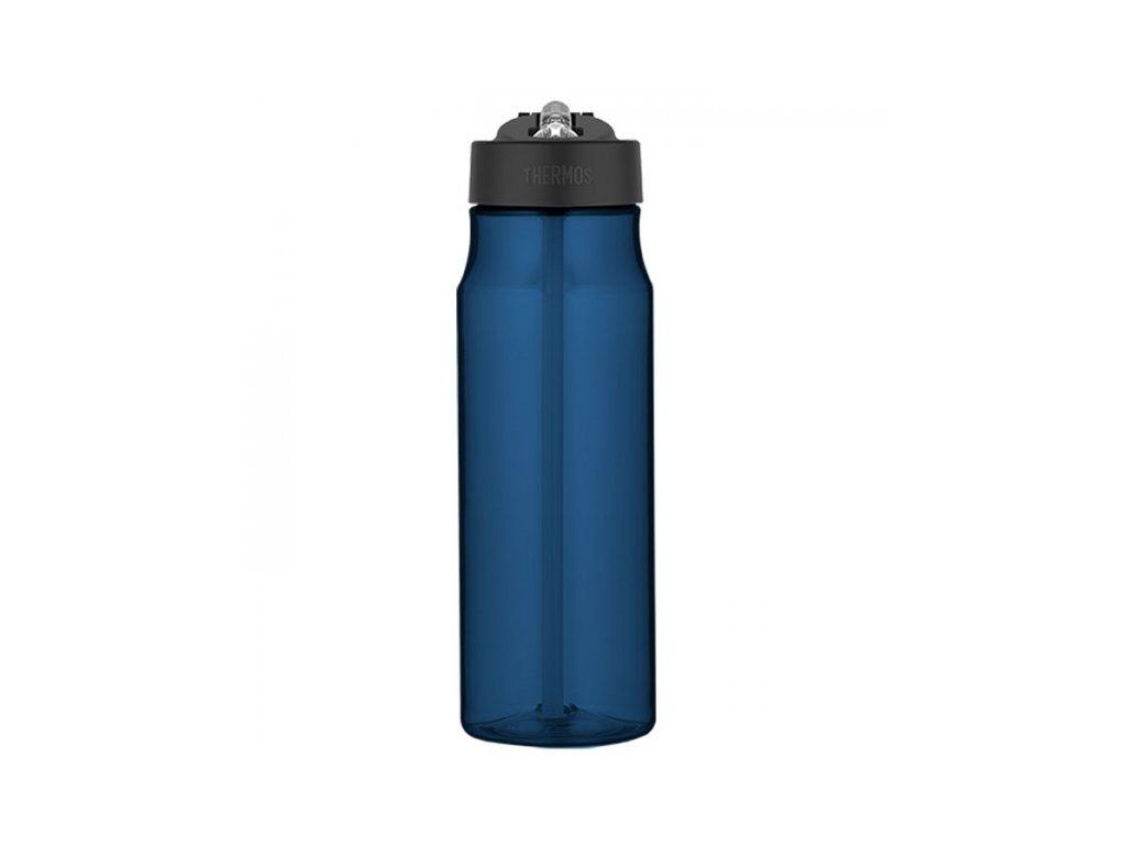 Hydratační láhev s brčkem o objemu 770 ml - tmavě modrá