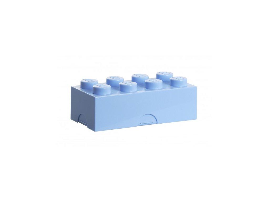 Lego box na svačinu - bledě modrá