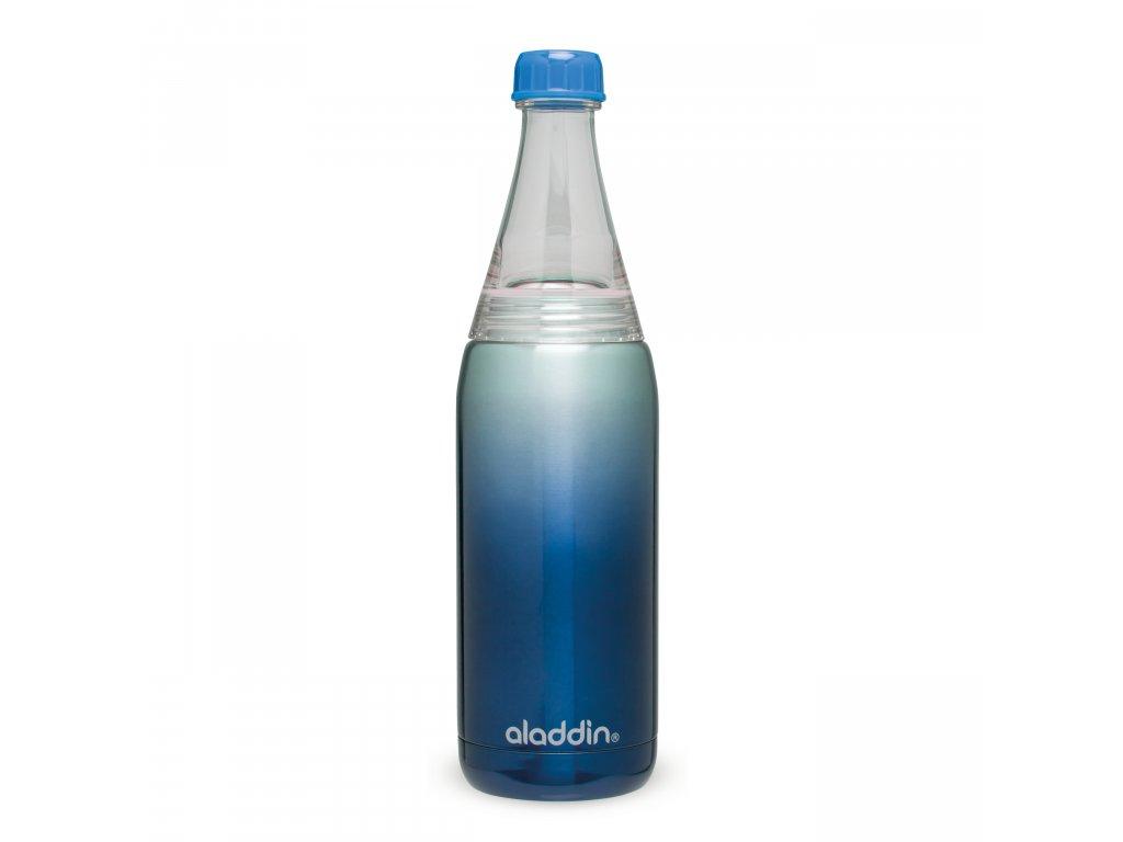 ALADDIN Fresco Twist&Go vakuová láhev na vodu 600ml modrá
