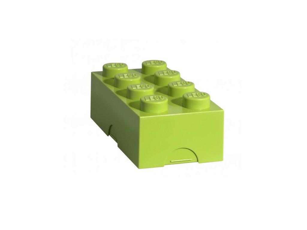 Lego box na svačinu - světle zelená