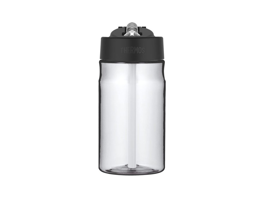 Dětská hydratační láhev s brčkem o objemu 350 ml - čirá