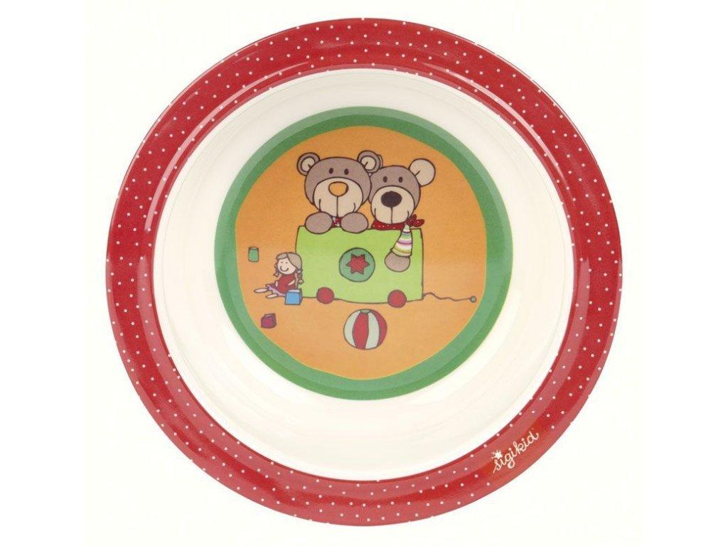 sigikid MELAMIN baby MISTIČKA medvídek WILD AND BERRY BEARS se silikonem (15,5 cm)