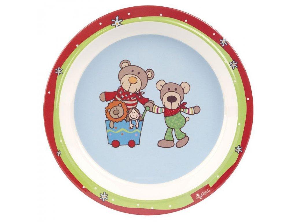 sigikid MELAMIN baby TALÍŘEK medvídek WILD AND BERRY BEARS se silikonem (21,5 cm)