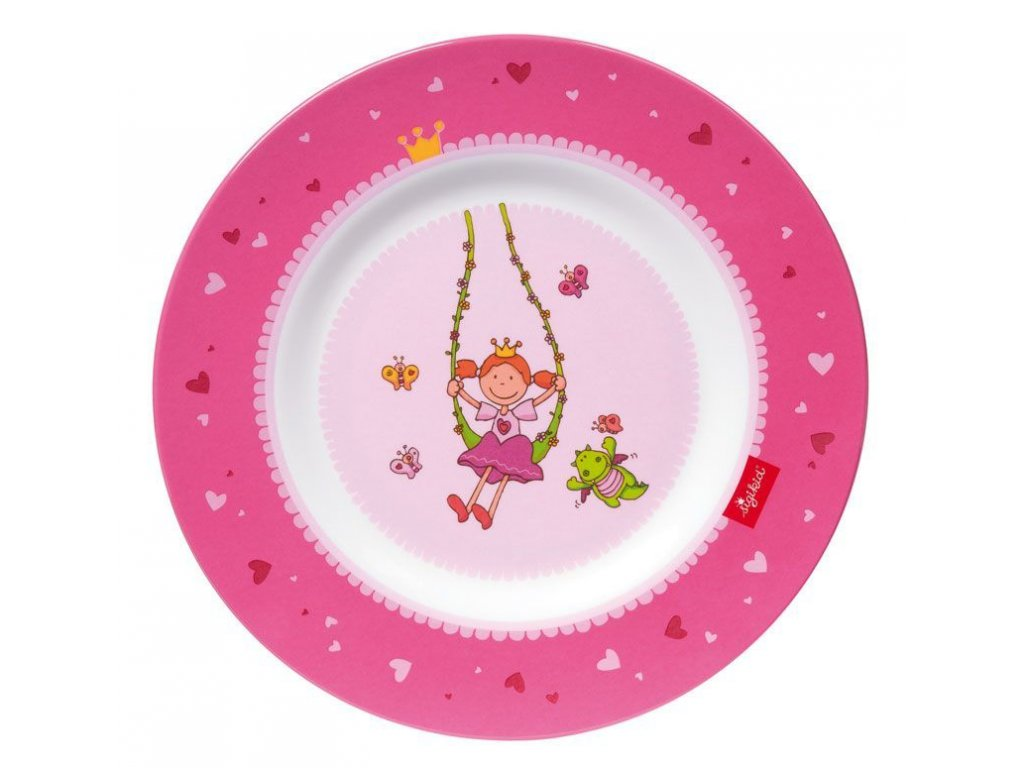 sigikid MELAMIN lifestyle princezna PINKY QUEENY talíř (21,5 cm)