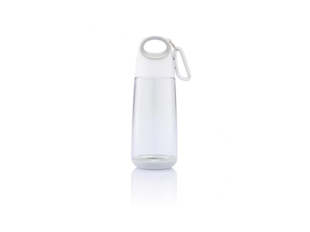 Bopp Mini lahev s karabinou, bílá průhledná