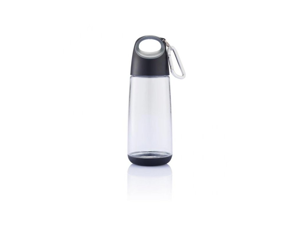Bopp Mini lahev s karabinou, černá průhledná