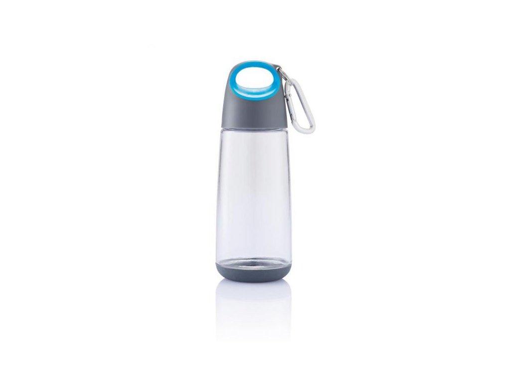 Bopp Mini lahev s karabinou, modrá průhledná