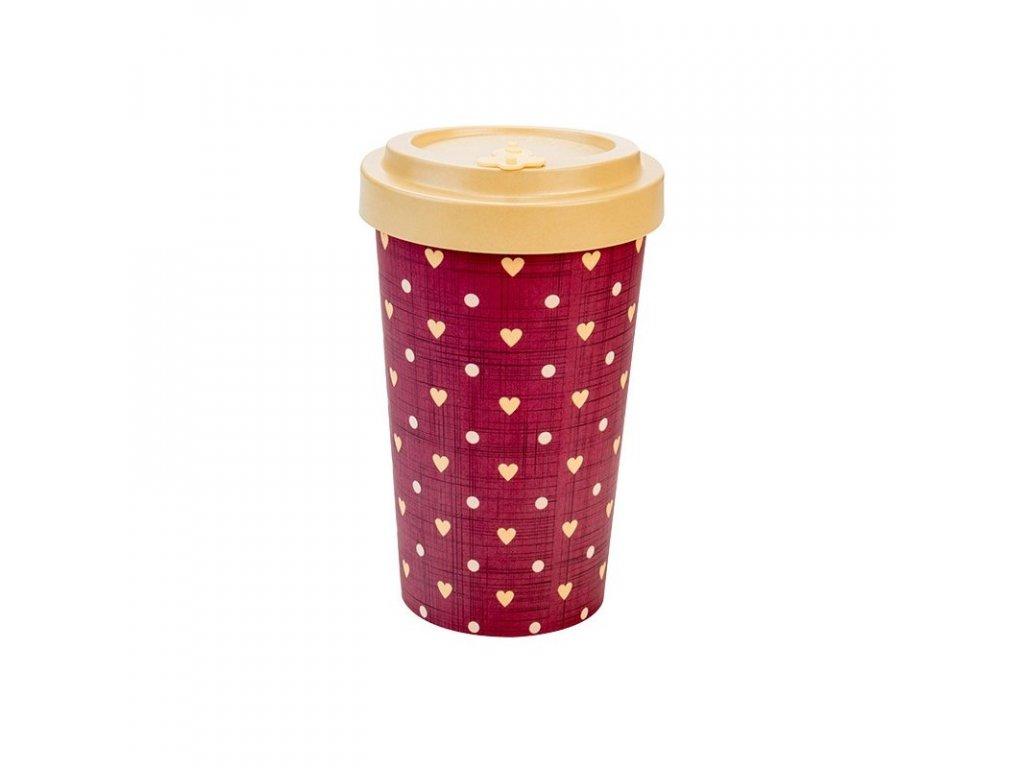 woodway opakovane pouzitelny kelimek na kavu z prirodniho materialu zelenadomacnost love beige