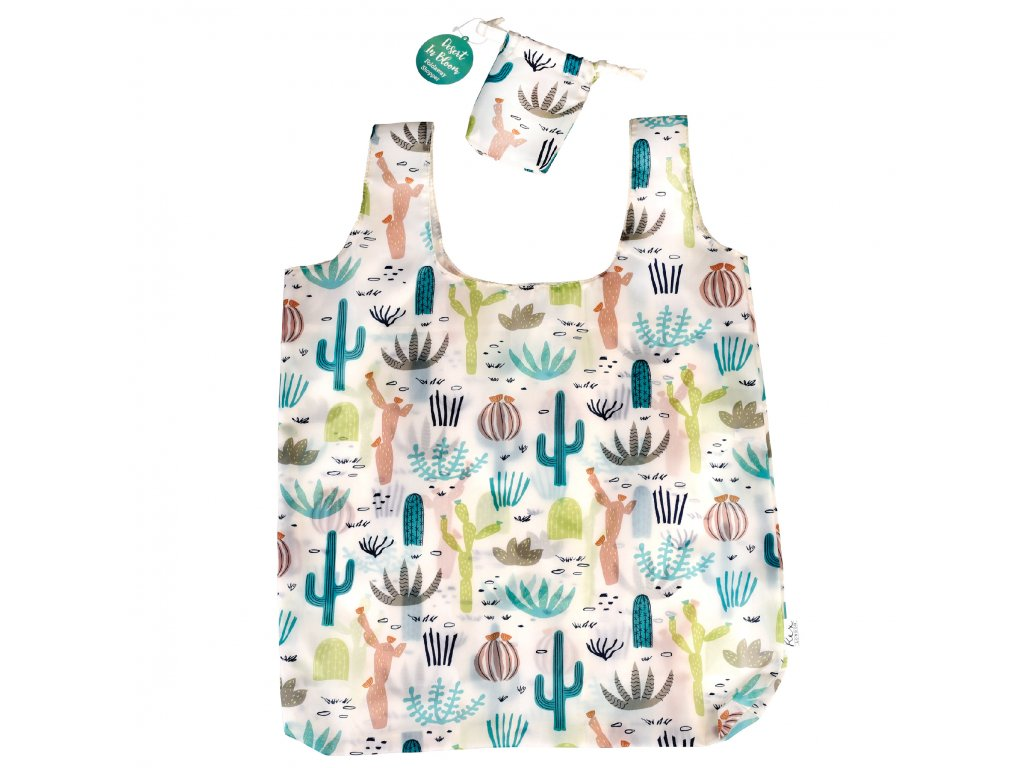 Rex London skládací taška na nákup - kaktusy