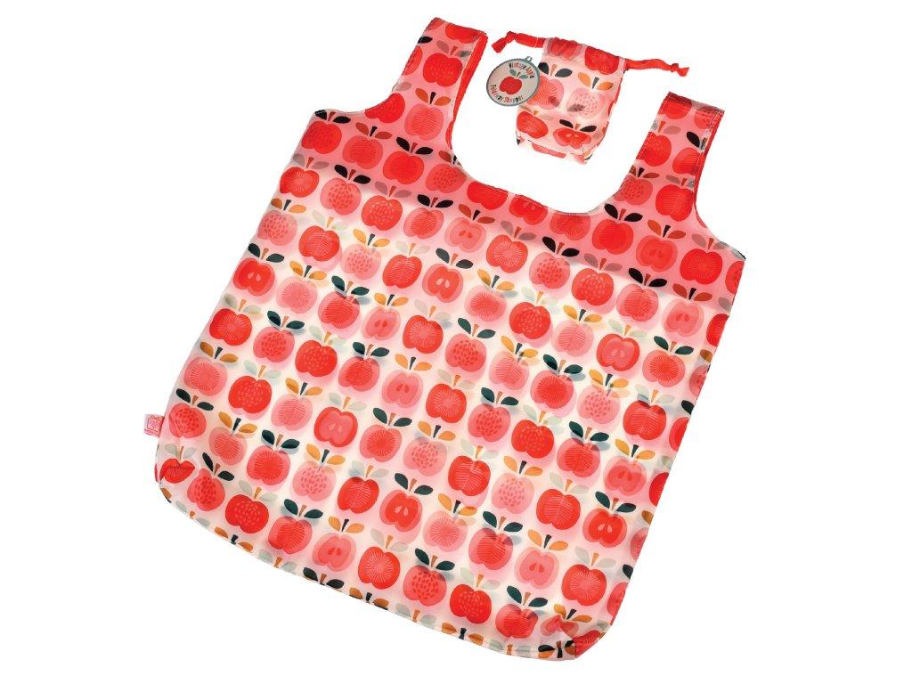 Rex London skládací taška na nákup - vintage jablíčka