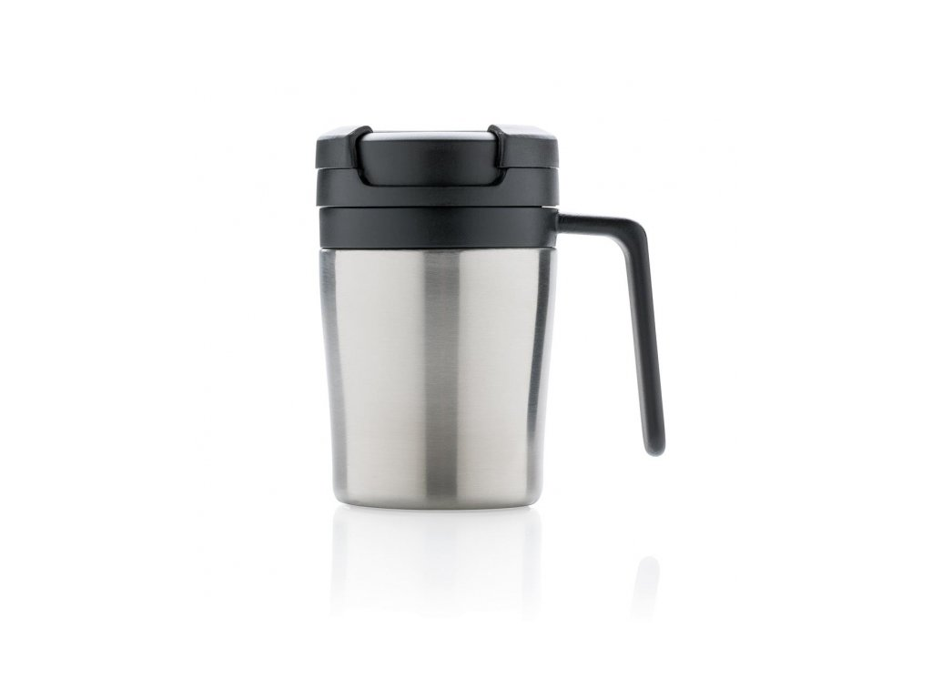 termohrnek coffee to go do kavovaru s ouskem 160 ml xd design stribrny