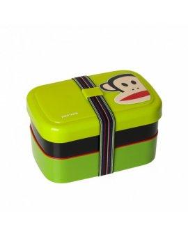 Dvoupatrový svačinový box Paul Frank - zelený