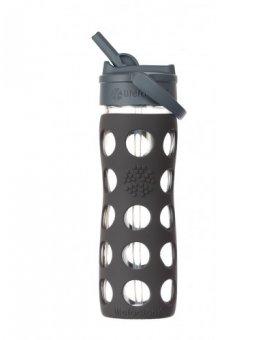 Lifefactory láhev s brčkem 475ml carbon