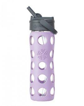 Lifefactory láhev s brčkem 475ml lilac