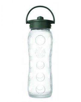 Lifefactory láhev s brčkem 650ml transparentní