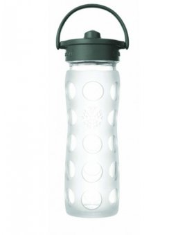 Lifefactory láhev s brčkem 475ml transparentní