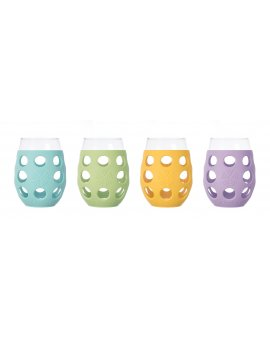 Lifefactory sklenice 325ml 4ks mix barev