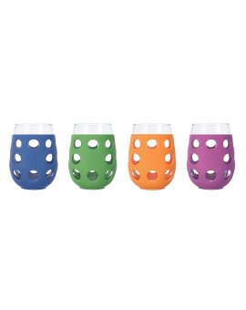 Lifefactory sklenice 500ml 4ks mix barev