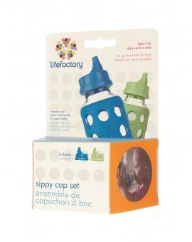 Lifefactory pítko dětské 2ks (modrá/zelená)
