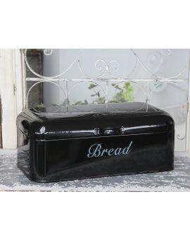 Kovový box na chléb - černý