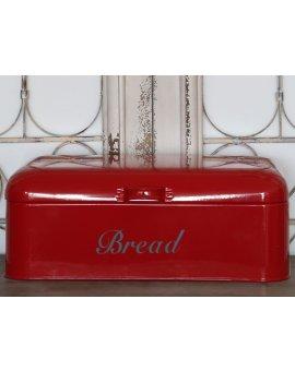 Kovový box na chléb - červený