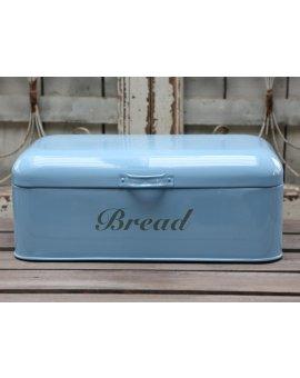 Kovový box na chléb - modrý