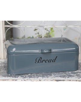 Kovový box na chléb - šedivý