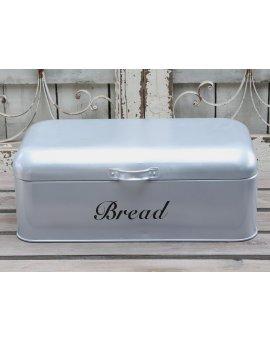 Kovový box na chléb - stříbrný