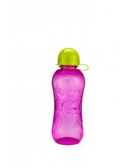 Láhev růžová - zelené víčko
