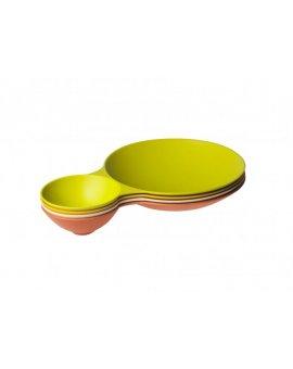 Eco Dining miska servírovací dvojitá Yellow