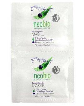Neobio Hydratační maska Bio Aloe vera & Acai, 2 x 7,5 ml
