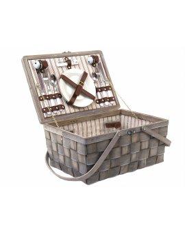 Piknikový koš vybavený pro 2 osoby - hnědý