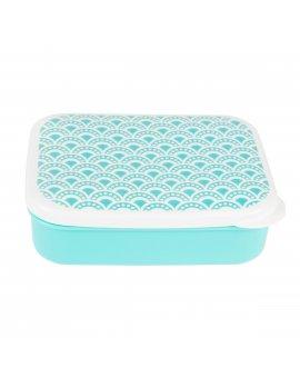 Svačinový box Modré vlnky
