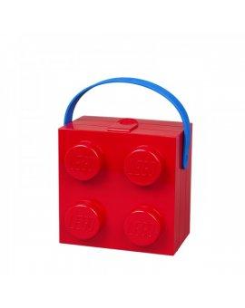 LEGO box s rukojetí - červená