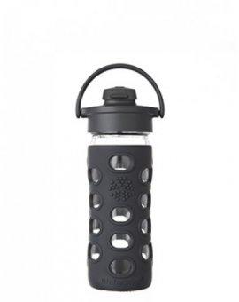 Lifefactory láhev s flip uzávěrem 350ml black