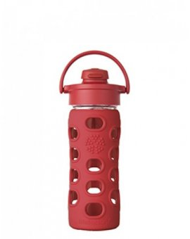 Lifefactory láhev s flip uzávěrem 350ml red