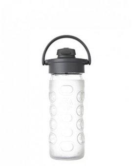 Lifefactory láhev s flip uzávěrem 350ml transparentní