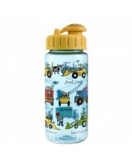 Dětská lahev s brčkem Pracovní stroje - tritan