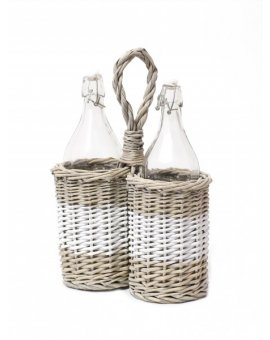 Košík na lahve se dvěma láhvemi