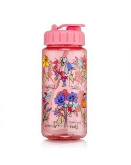 Dětská láhev s brčkem - květinové víly