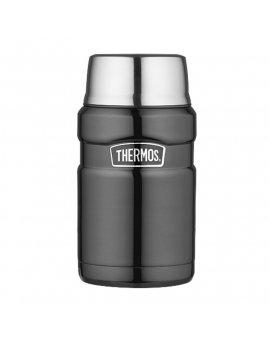 Thermos Termoska na jídlo se šálkem - metalicky šedá